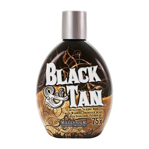 Millennium BLACK & TAN 75X Bronzer Indoor Dark ACCELERATOR Lotion Tanning N And by Millennium Tanning Products (Image #2)