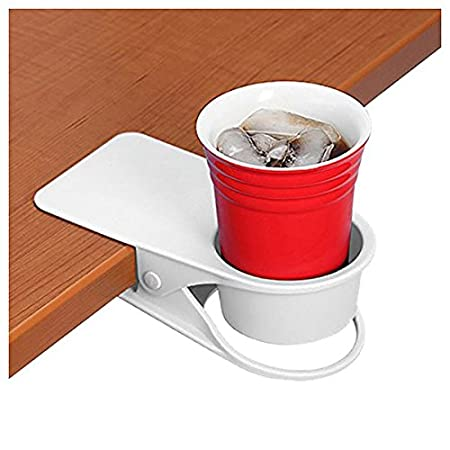 Supercope Drinking Cup Holder Clip- Table Bottle Cup Stand The DIY Glass Clamp Storage Saucer Clip Water Coffee Mug Holder Saucer Clip Design for Home & Office, Black