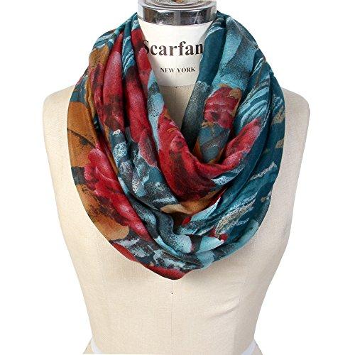 teal blue scarf - 1