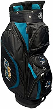 Team Golf NHL Clubhouse Golf Cart Bag, Lightweight, 8-Way Top with Integrated Handle, 6 Zippered Pockets, Padd