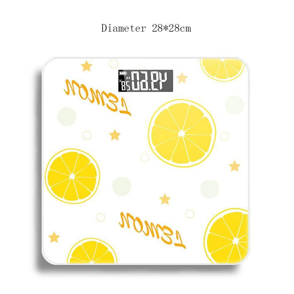 Básculas Digitales Escala electrónica Escala de Salud Escala de Salud Recargable Hielo limón Vidrio Templado portátil: Amazon.es: Hogar