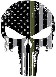 Amazoncom PUNISHER SKULL American Flag Vinyl Decal Stickers Car - Motorcycle helmet decals militarysubdued american flag sticker military tactical usa helmet decal