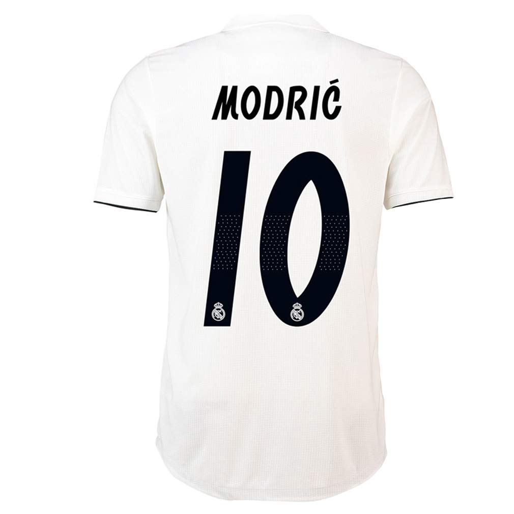 a412031bb Amazon.com  Luka Modric Soccer Jersey Mens Real Madrid 10  2018 2019 Home  Jersey White (XL)  Clothing
