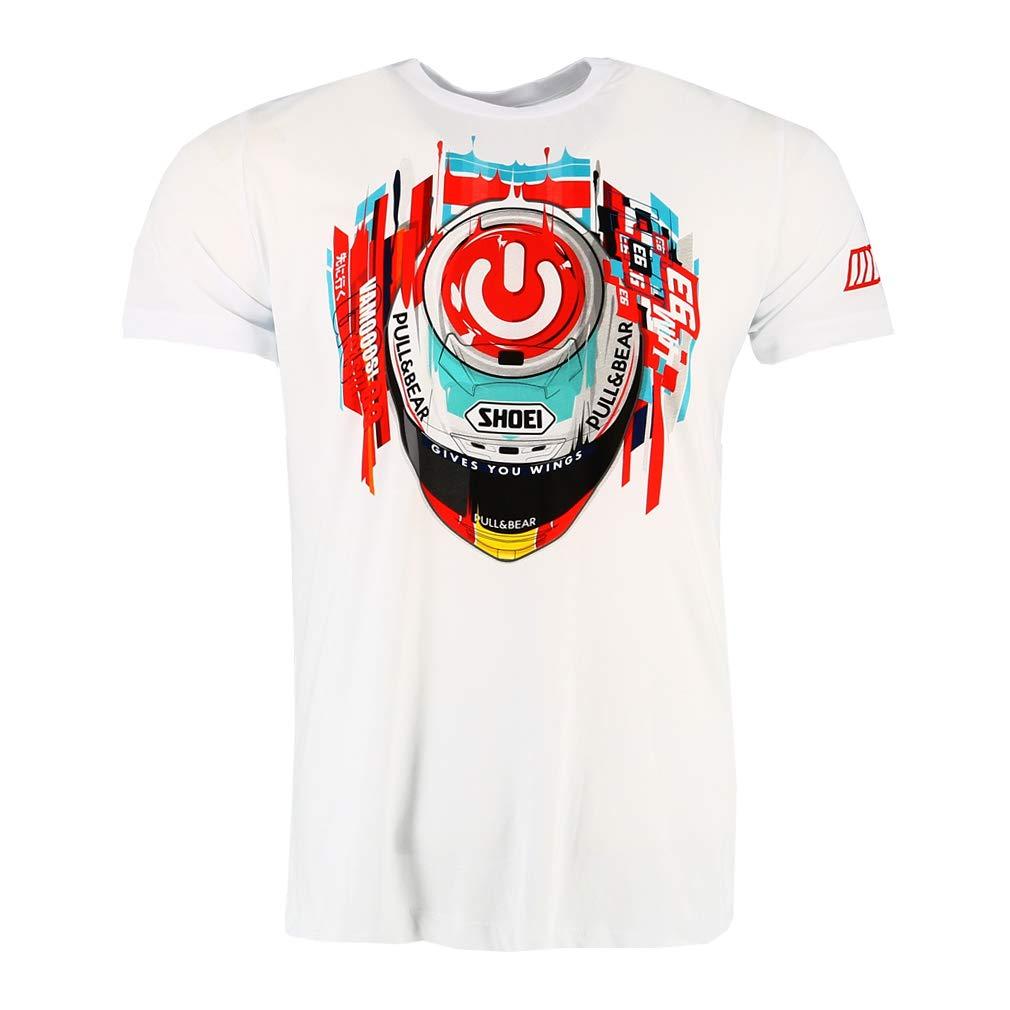 Marc Marquez 93 Moto GP Special Edition Barcelona Blanco Camiseta Oficial 2018