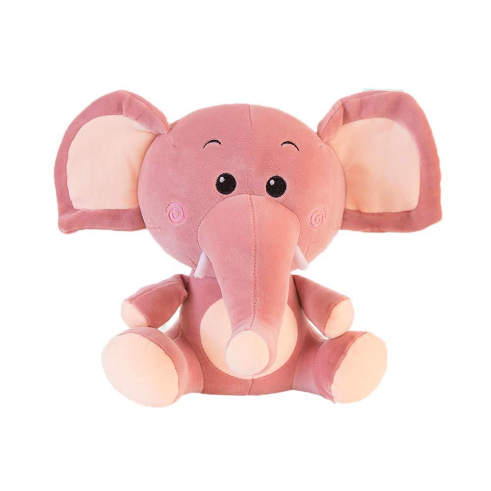 Juguete De Peluche De Elefante Super Suave Los Animales De Peluche Antes De Irse A La Cama Niña Niño Regalo De Navidad,Red,55Cm