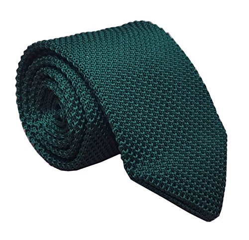 Vintage Ugly Dark Green Tie for Men Knitting Narrow Necktie for Adults Best Gift -