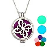 RainBabe Aromatherapy Essential Oil Diffuser Necklace Flower