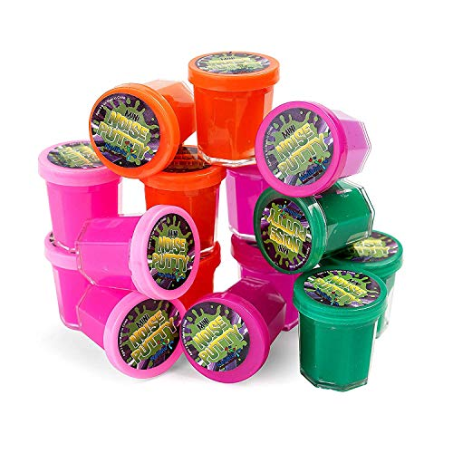 Mega Party Favor Pack of Slime - Party Favors for Kids and Teens - Bulk Pack of 48 Mini Noise Putty in Assorted Neon Colors - Bulk Toys, Easter Egg Stuffers, and Birthday Party Favors for Kids (Neon Color Explosion)