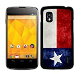 [TeleSkins] - Texas Flag - Google LG Nexus 4 Back Case/ Cover - Ultra Durable HARD PLASTIC Protective Slim Designer Snap On back Case / Cover for Teen Girls. (Fits Nexus 4 E960 Model)