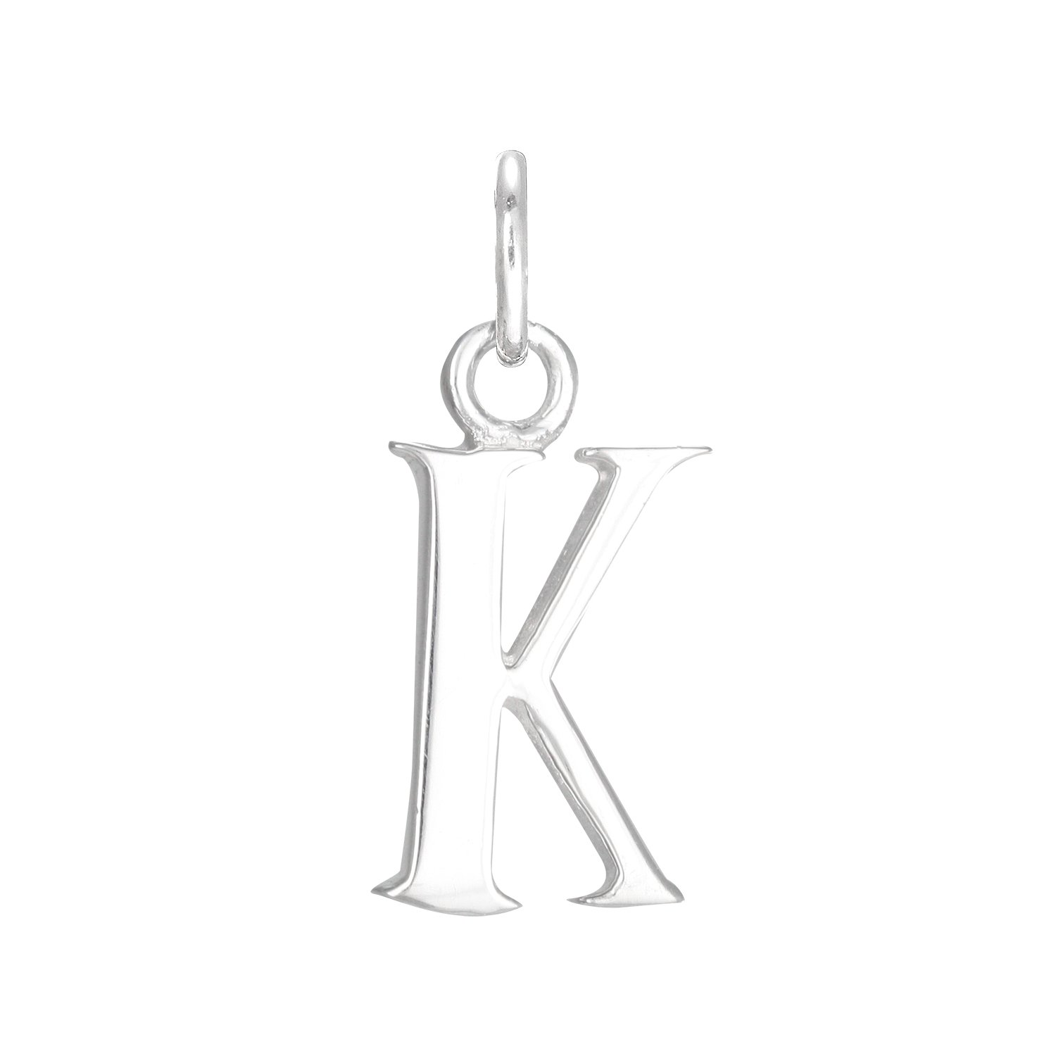 TheCharmWorks Sterling Silver Alphabet Letter K Charm CW-0-ALK