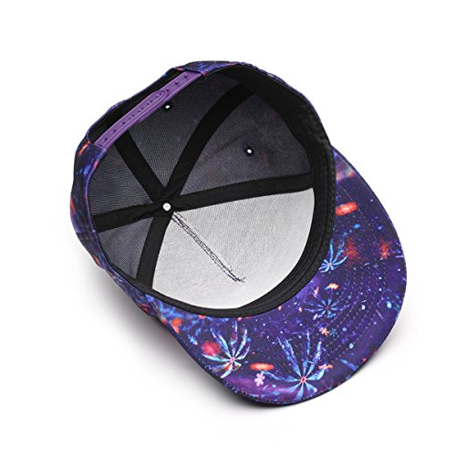 de Sombrero de Moda Visera de Snapback Estamapdo 1 Hiphop Estampado Gorra Plano NUZADA Unisex Béisbol gwq1AZ