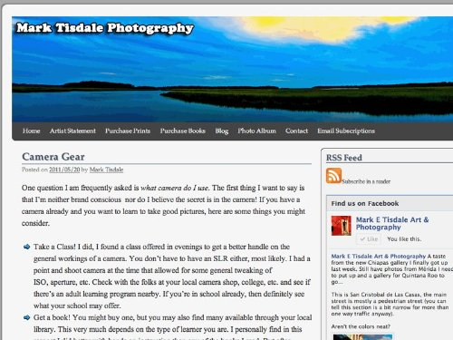 Mark E Tisdale Art & Photography Blog