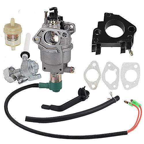 Harbot Manual Choke Carburetor for Generac Centurion 55771 0055771 5000 6250 Watt Generator with Gasket Fuel Filter Valve