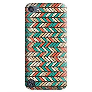 Ipod Touch 5 Case,JIANSE Stylish Full Protective Slim Fit Flexible Colorful Indian Tribal Geometric Wave Mandala Pattern Hard Back Cover Case Bumper for Ipod Touch 5