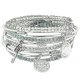 Ice Silver Expandable Kona Stack Bracelet Set