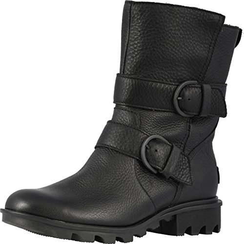 Sorel Womens Phoenix Moto Black Boot - 8.5 (Store Home Phoenix The)