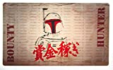 Bounty Fett Playmat Inked Gaming - Perfect for MtG, Pokemon, and YuGiOh gaming! MTG Playmat Your Game. Your Style.