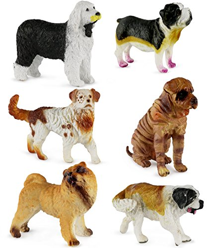 Click N' Play Assorted Beautiful Detailed Canine Dog Animal Set.]()