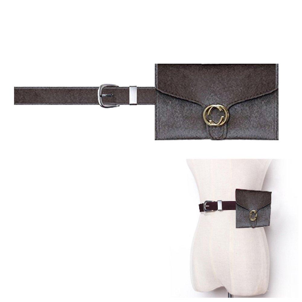 Famhome Riñonera de franela de algodón de moda, bolsa de cintura de cintura extraíble de viaje bolsa de teléfono celular