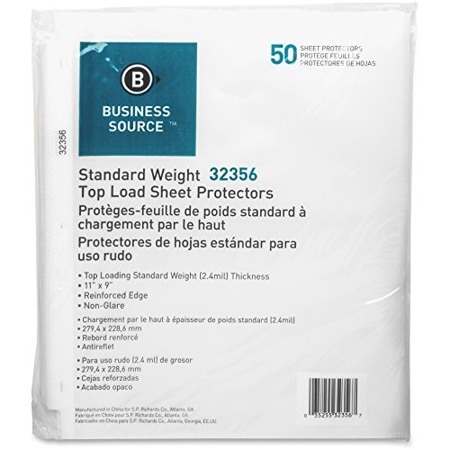 (Business Source 32356 Sheet Protectors,Top Load,2.4 mil,11