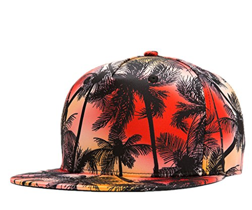 connectyle-vintage-coconut-palm-tree-print-fitted-flat-bill-hats-fashion-cool-snapback-hip-hop-cap-h