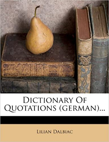 Book Dictionary Of Quotations (german)...