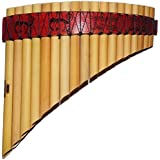 Pan Flaute Curved Tunable 18 Pipes From Peru Item in USA Case Included -