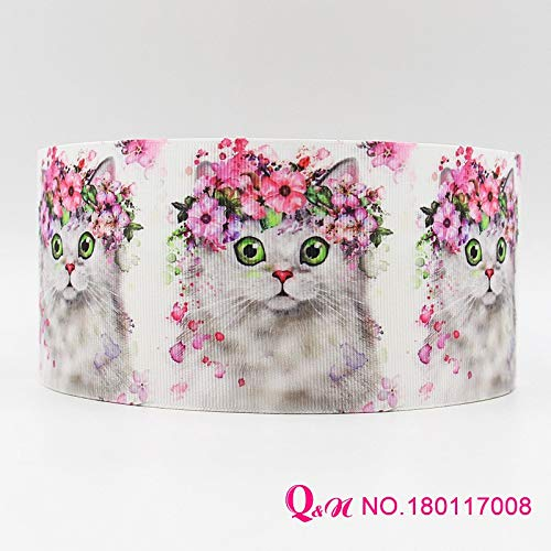 Best Quality - Ribbons - Ribbon 16mm 22mm 25mm 38mm 50mm 75mm Animal Printed Grosgrain Ribbon Webbing 50yards/roll for Hair tie - by Olwen ()