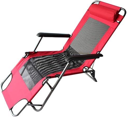 SXY-ZDTY Tumbona Tumbona de Jardín, Terraza y Balcon; Plegable; en Aluminio Marrón o Negro;Tumbona Jardín Plegable con Toldo Roja ,Tumbona Relax, Ajustable Air Comfort (Color : Rojo): Amazon.es: Hogar