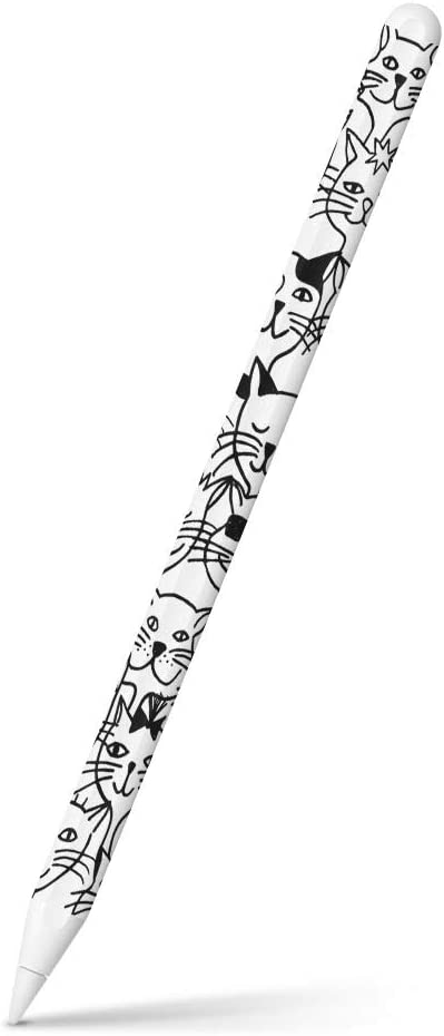 igsticker Ultra Thin Protective Body Stickers Skins Universal Decal Cover for Apple Pencil 2nd Generation (Apple Pencil Not Included) 010229 Cat Animal Illustration