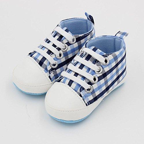 ESHOO bebé niñas niños arco iris suave Prewalkers zapatos de Lienzo Casual zapatos de primera caminantes PG Talla:0-6 meses LG
