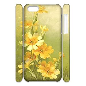Vintage Flower Watercolor Customized 3D Cover Case for Iphone 5C,custom phone case ygtg587508