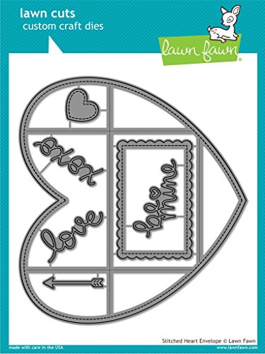 (Lawn Fawn Lawn Cuts - Stitched Heart Envelope Die)