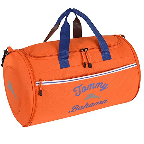 Tommy Bahama Travel Carry Duffle Bag, Orange/Grey/Blue (Seas Tommy South Bahama)