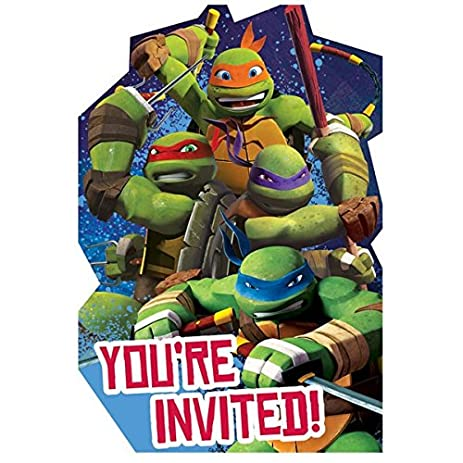 Amazon Com 8 Count Teenage Mutant Ninja Turtles Invitations With