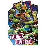 8-Count Teenage Mutant Ninja Turtles Invitations with Sticker Seals