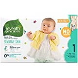 Seventh Generation Baby Diapers, Free & Clear for Sensitive Skin, Original No Designs, Size 1, 160 count (Packaging May Vary)