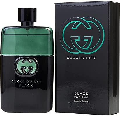 35c94884fe Amazon.com : Gucci Guilty Black Pour Homme Fragrance Collection 3.0-oz. Eau  de Toilette : Beauty