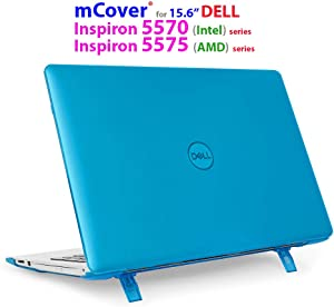 "mCover Hard Shell Case for 15.6"" Dell Inspiron 15 5570 (Intel) / 5575 (AMD) Laptop (NOT Compatible with Other Dell Inspiron 5000 Series Models) Laptop (Aqua)"