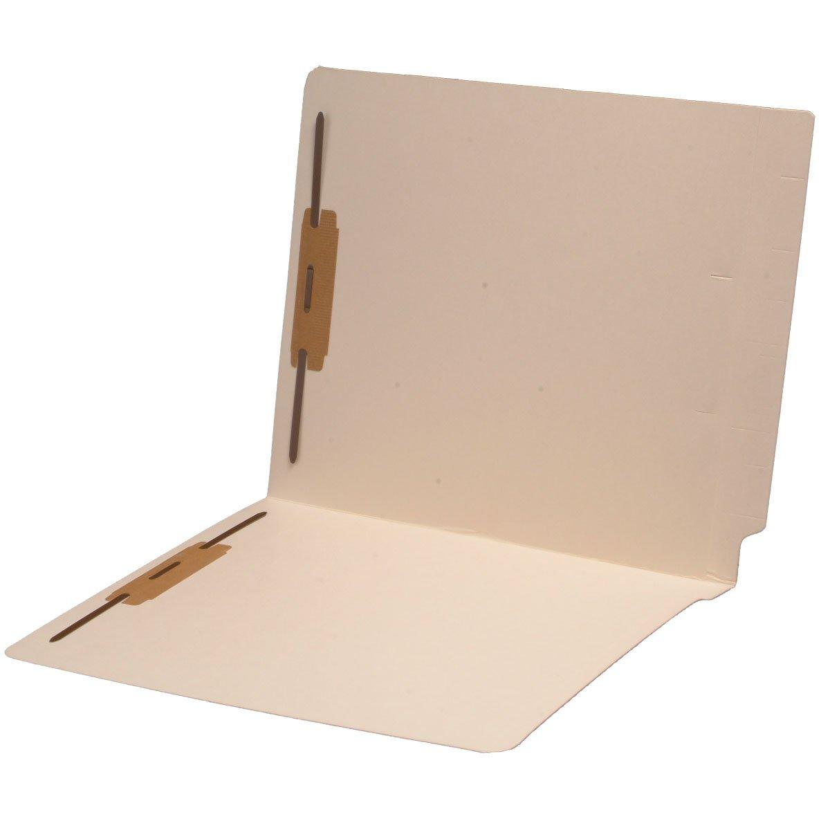 11 pt Manila Folders, Full Cut 2-Ply End Tab, Letter Size, Fastener Pos #1 & #3 (Carton of 250) by Ecom Folders