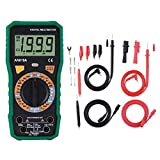 Akozon Digital Multimeter, ANENG AN819A Voltage Current Resistance Meter Temperature Tester, AC/DC Voltage Meter-Non contact voltage Detection Function(#4 Green)