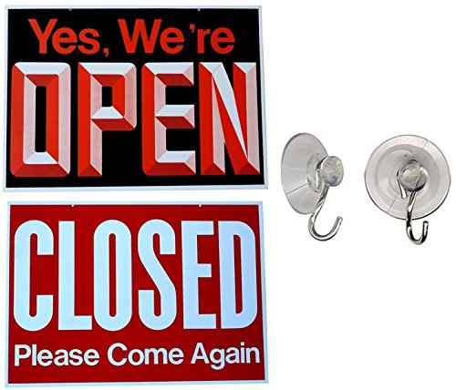 1 Pc Impressive Unique Yes We're Open Closed Please Come Again Hanging Sign Retail Store Clock Letters Out For Lunch In Window During Business Hours Office Close Signs Size 13