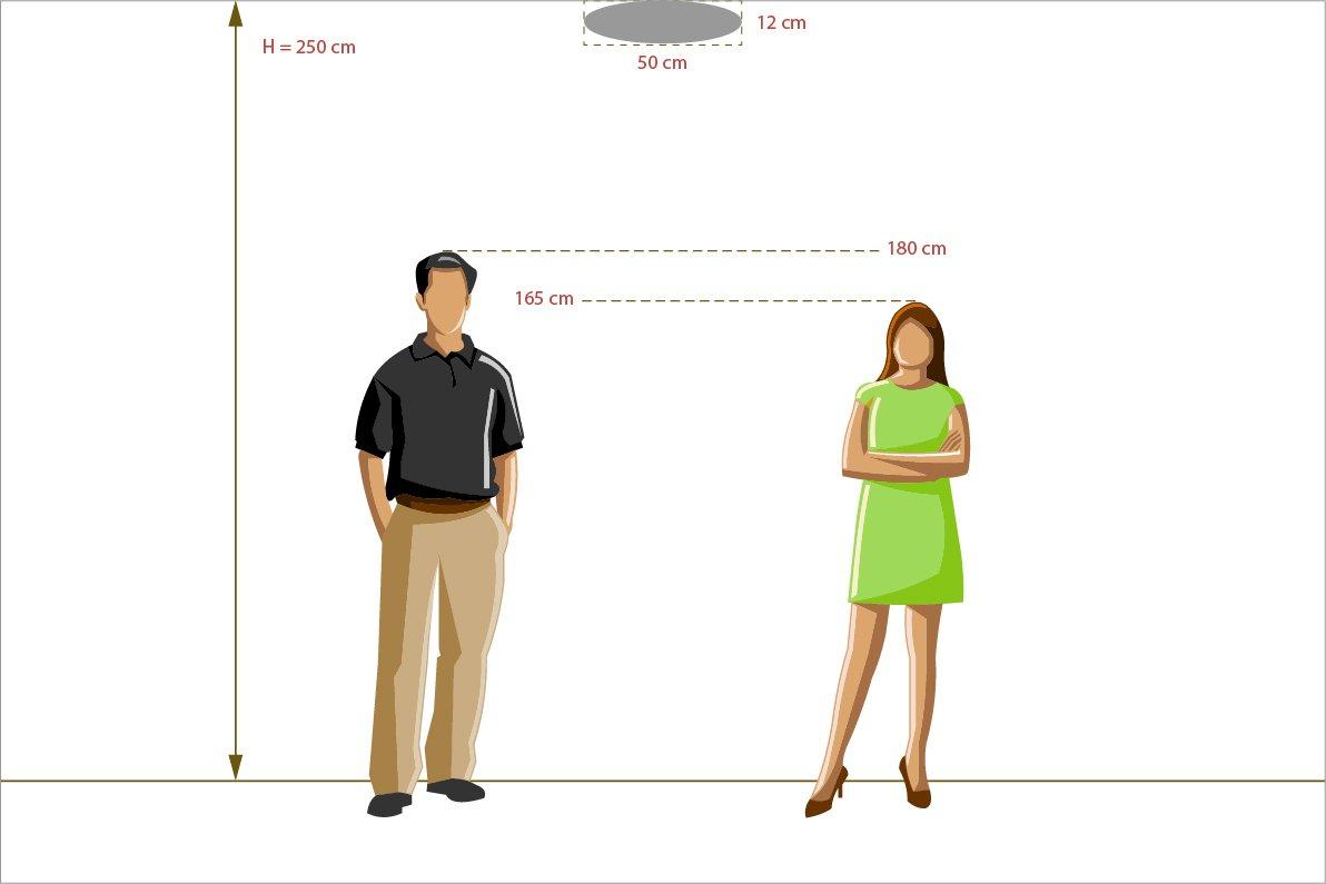 MW-Light 365015701 Moderne Deckenleuchte 1 Flammig Wei/ßes Metall Wei/ßes Acryl mit Muster Klares Licht Dimmbar Kinderzimmer Jugendzimmer 30W Led Smd