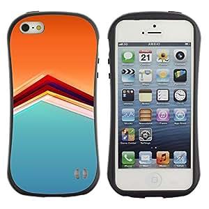 Suave TPU GEL Carcasa Funda Silicona Blando Estuche Caso de protección (para) Apple Iphone 5 / 5S / CECELL Phone case / / Pattern Orange Soothing Calm Pastel /