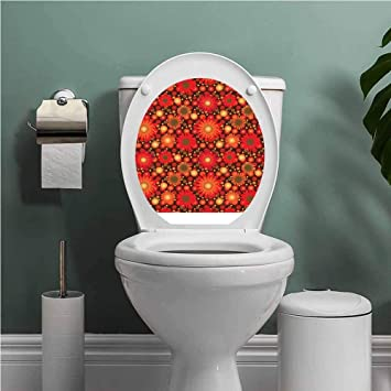 Superb Amazon Com Scocici1588 Red And Brown Toilet Seat Tattoo Ocoug Best Dining Table And Chair Ideas Images Ocougorg