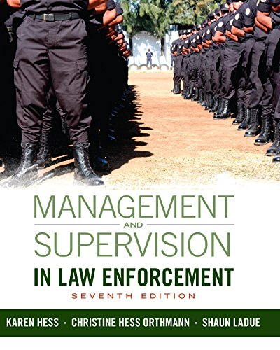 Download Management and Supervision in Law Enforcement Pdf