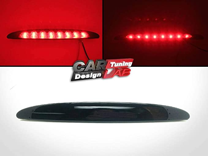 Smoke lens Red Led Replacement Rear Bumper Fog Light Lamp For Peugeot 206 206cc
