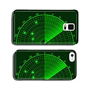 Green Radar Screen. Vector cell phone cover case Samsung S5
