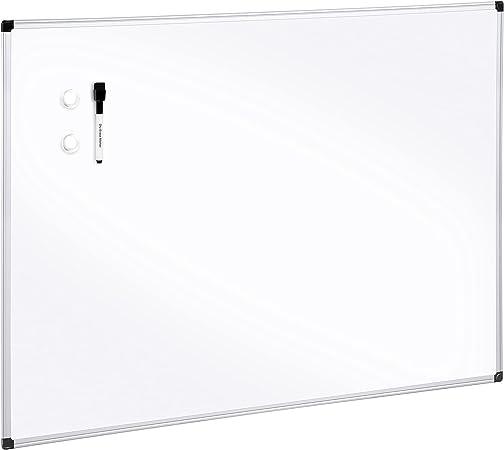"""AmazonBasics Magnetic Dry Erase Board, 24"""" x 36"""", Aluminum Frame"""