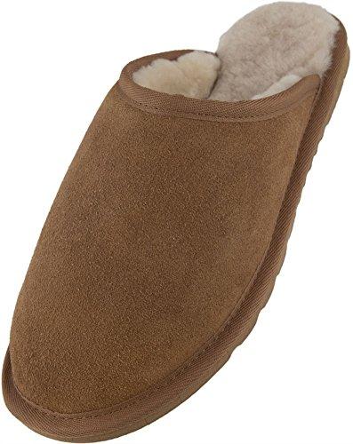 SNUGRUGS Srusmchest - Zapatillas de estar por casa Hombre marrón - marrón